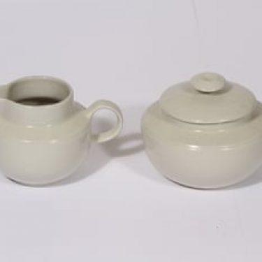 Arabia Saaristo sugar bowl and creamer, gray, Inkeri Leivo