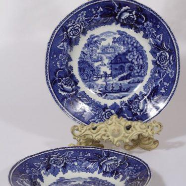 Arabia Maisema lautaset, syvä, 2 kpl, suunnittelija , syvä, kuparipainikoriste