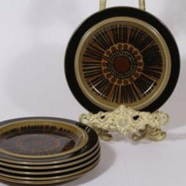 Arabia Kosmos lautaset, pieni, 6 kpl, suunnittelija Gunvor Olin-Grönqvist, pieni, puhalluskoriste