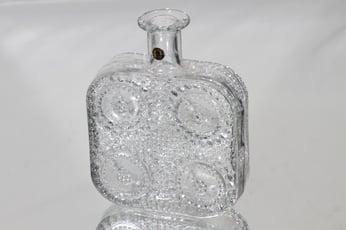 Riihimäen lasi Grapponia koristepullo, kirkas, suunnittelija Nanny Still,