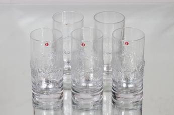 Iittala Niva lasit, 30 cl, 5 kpl, suunnittelija Tapio Wirkkala, 30 cl