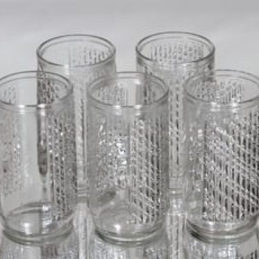 Riihimäen lasi Flindari juomalasit, 30 cl, 5 kpl, suunnittelija Nanny Still, 30 cl