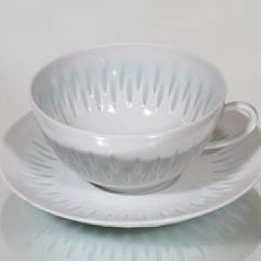 Arabia FK/D teekuppi, riisiposliini, suunnittelija Friedl Holzer-Kjellberg, riisiposliini, 25 cl, massasigneerattu