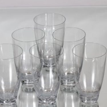 Nuutajärvi Fennia juomalasit, 25 cl, 6 kpl, suunnittelija Kaj Franck, 25 cl, viivahiottu