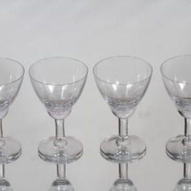 Nuutajärvi Fennia lasit, 8 cl, 4 kpl, suunnittelija Kaj Franck, 8 cl, viivahiottu