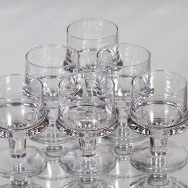 Iittala Tavastia strong wine glasses, 10 cl, 6 pcs, Tapio Wirkkala