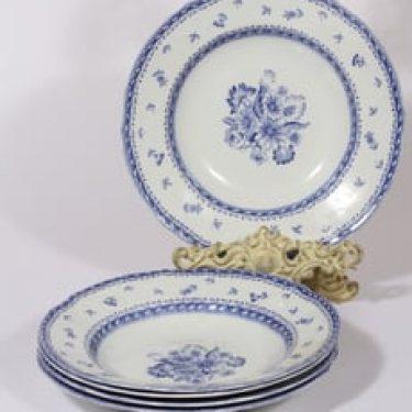 Arabia Suomen kukka lautaset, syvä, 5 kpl, suunnittelija , syvä, kuparipainokoriste