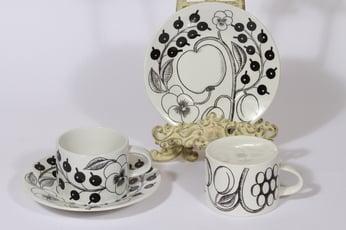 Arabia Paratiisi kahvikupit, 25 cl, 2 kpl, suunnittelija Birger Kaipiainen, 25 cl, serikuva