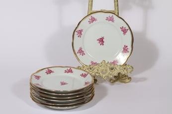 Arabia S 42 lautaset, punainen, 7 kpl, suunnittelija Greta-Lisa Jäderholm-Snellman, pieni, siirtokuva