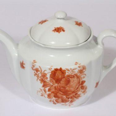 Arabia kukkakuvio teekaadin, oranssi, suunnittelija , siirtokuva, kukka-aihe