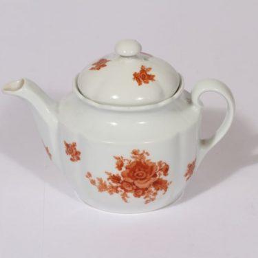 Arabia kukkakuvio teekaadin, oranssi, suunnittelija , pieni, siirtokuva, kukka-aihe