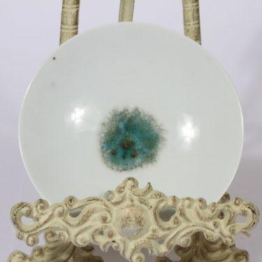 Arabia koristelautanen, käsinmaalattu, suunnittelija Raija Tuumi, käsinmaalattu, pieni, käsindreijattu, signeerattu