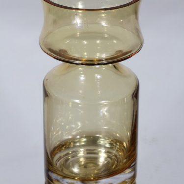 Riihimäen lasi Ruusu maljakko, amber, suunnittelija Tamara Aladin,