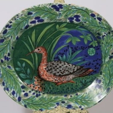 Arabia Hubertus paistivati, Pro Arte, suunnittelija Dorrit von Fieandt, Pro Arte, soikea, serikuva, lintuaihe
