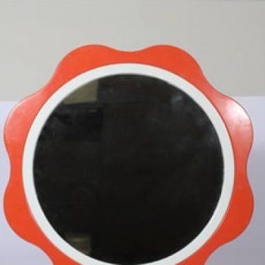 Mäkisen kuvastin peili, oranssi, suunnittelija , suuri, retro