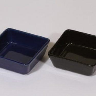 Arabia Kilta kulhot, sininen|musta, 2 kpl, suunnittelija Kaj Franck, pieni