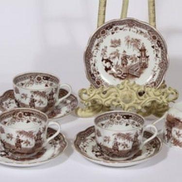 Arabia Singapore kahvikupit, ruskea, 4 kpl, suunnittelija , kuparipainokoriste