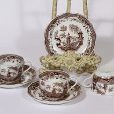 Arabia Singapore kahvikupit, ruskea, 3 kpl, suunnittelija , kuparipainokoriste