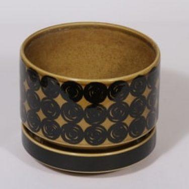 Arabia Kerä kukkaruukku, ruskea, suunnittelija , serikuva, retro