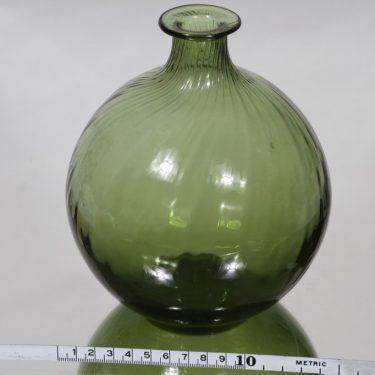 Riihimäen lasi Neptuna kukkapullo, vihreä, suunnittelija Nanny Still,  kuva 2