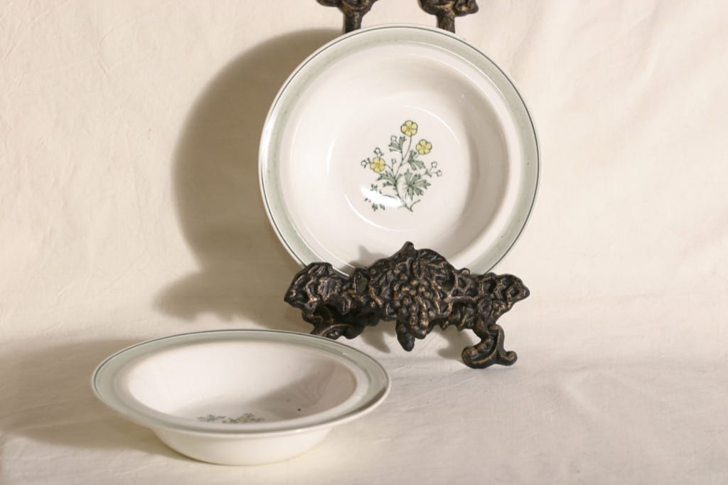 Arabia Diana soup plates, 4 pcs, hand-painted