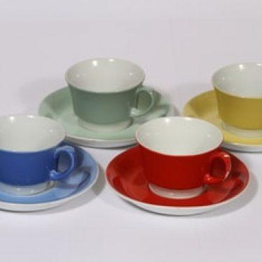 Arabia EP kahvikupit, eri värejä, 4 kpl, suunnittelija ,