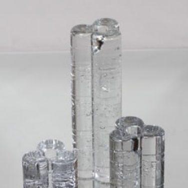 Iittala Arkipelago kynttilänjalat, eri kokoja, 3 kpl, suunnittelija Timo Sarpaneva, eri kokoja, massiivinen