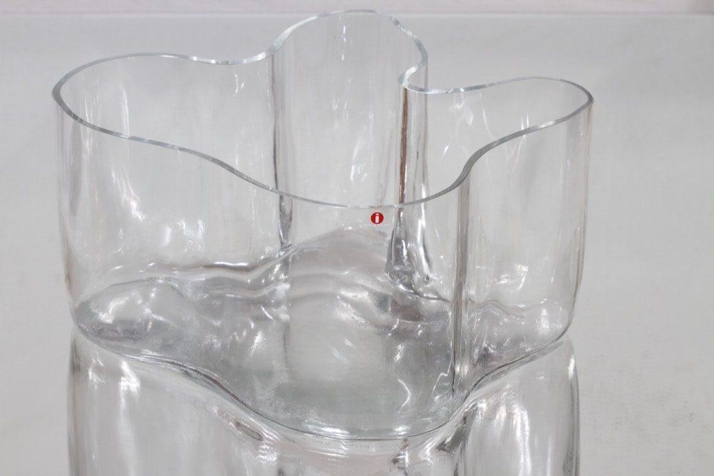 Iittala 3031 maljakko, signeerattu, suunnittelija Alvar Aalto, signeerattu, suuri, numeroitu
