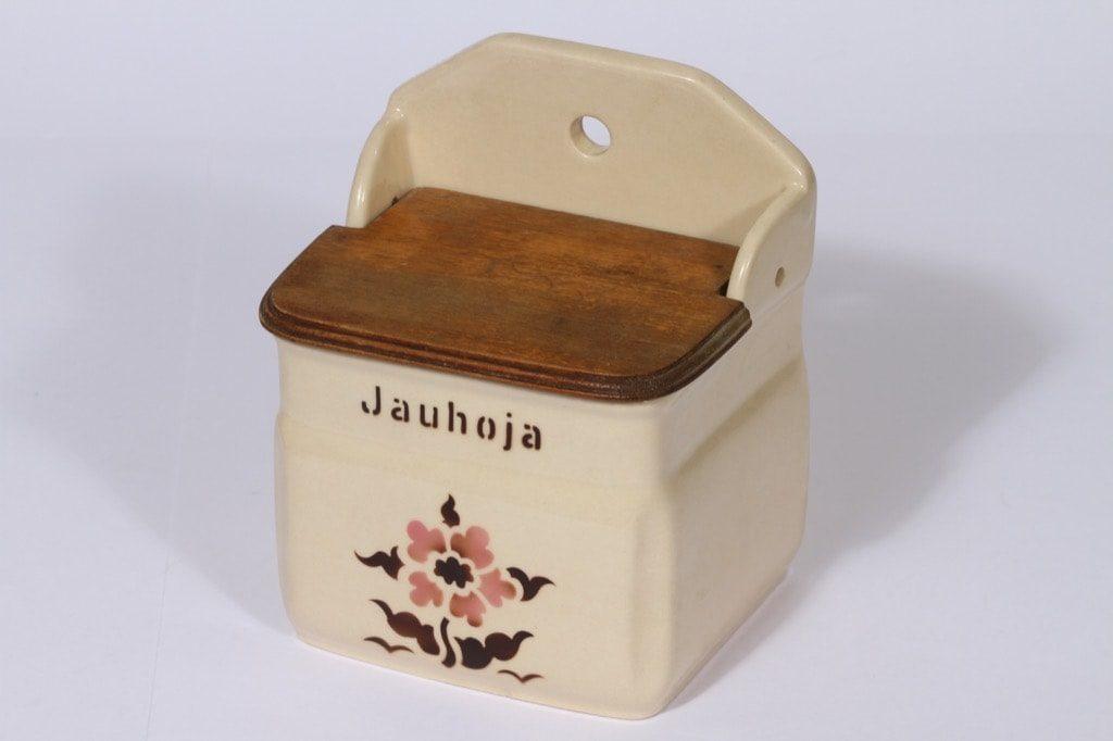 Arabia kukkakuvio jauhoastia, suunnittelija , puhalluskoriste, kukka-aihe