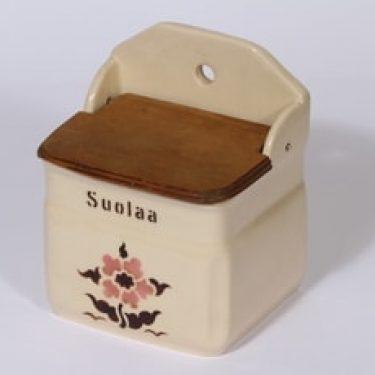 Arabia kukkakuvio suola-astia, suunnittelija , puhalluskoriste, kukka-aihe