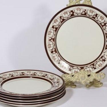 Arabia Katrilli lautaset, matala, 6 kpl, suunnittelija Esteri Tomula, matala, serikuva
