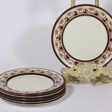 Arabia Katrilli lautaset, pieni, 6 kpl, suunnittelija Esteri Tomula, pieni, serikuva