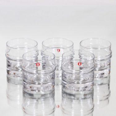 Iittala Pisaranrengas lasit, 8 cl, 5 kpl, suunnittelija Timo Sarpaneva, 8 cl