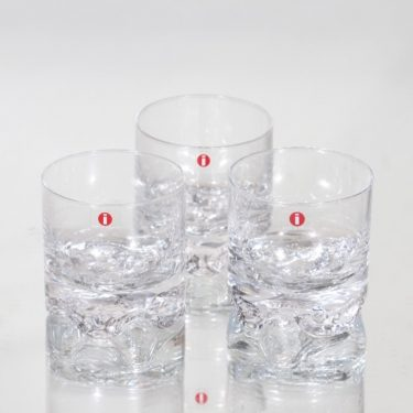 Iittala Gaissa lasit, 10 cl, 3 kpl, suunnittelija Tapio Wirkkala, 10 cl