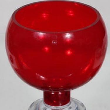 Riihimäen lasi Old King Cole boolimalja, jalallinen, suunnittelija Erkkitapio Siiroinen, jalallinen, suuri
