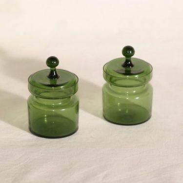 Kumela 450-II=2700 lasipurkit, vihreä, 2 kpl, suunnittelija Sirkku Kumela-Lehtonen,