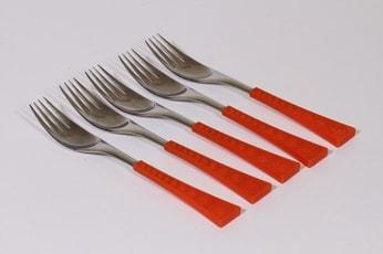 Hackman Colorina haarukat, oranssi, 5 kpl, suunnittelija Nanny Still,