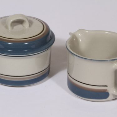 Arabia Uhtua sugar bowl and creamer, Inkeri Leivo