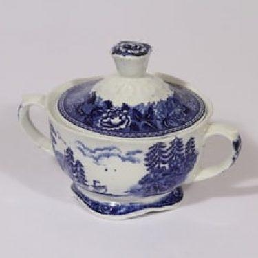 Arabia Maisema sokerikko, sininen, suunnittelija , kuparipainokoriste