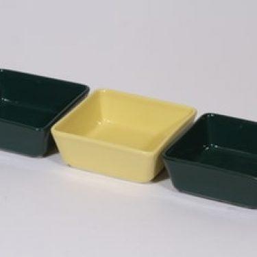 Arabia Kilta kulhot, keltainen|vihreä, 3 kpl, suunnittelija Kaj Franck, pieni