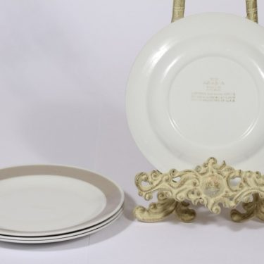 Arabia Soma lautanen, harmaa lasite, 4 kpl, suunnittelija ,  kuva 2