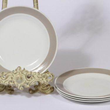 Arabia Soma lautanen, harmaa lasite, 4 kpl, suunnittelija ,