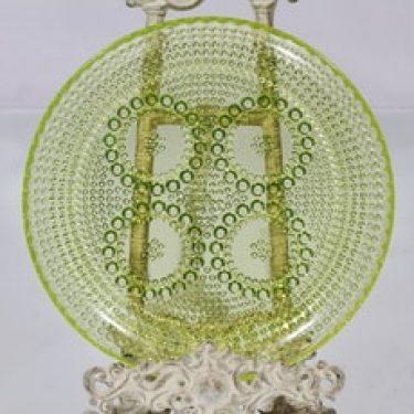 Riihimäen lasi Grapponia vati, keltainen, suunnittelija Nanny Still,