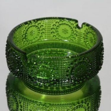 Riihimäen lasi Grapponia tuhka-astia, vihreä, suunnittelija Nanny Still,
