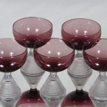 Iittala Briljant cocktail-lasit, lila, 5 kpl, suunnittelija Tapio Wirkkala,