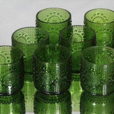Riihimäen lasi Grapponia lasit, vihreä, 7 kpl, suunnittelija Nanny Still,