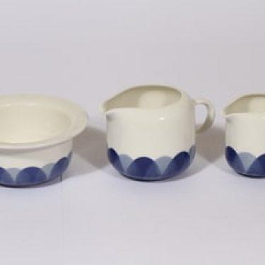 Arabia Arctrica Pudas kermakot ja sokerikko, sininen, 2 kpl, suunnittelija Inkeri Leivo, serikuva