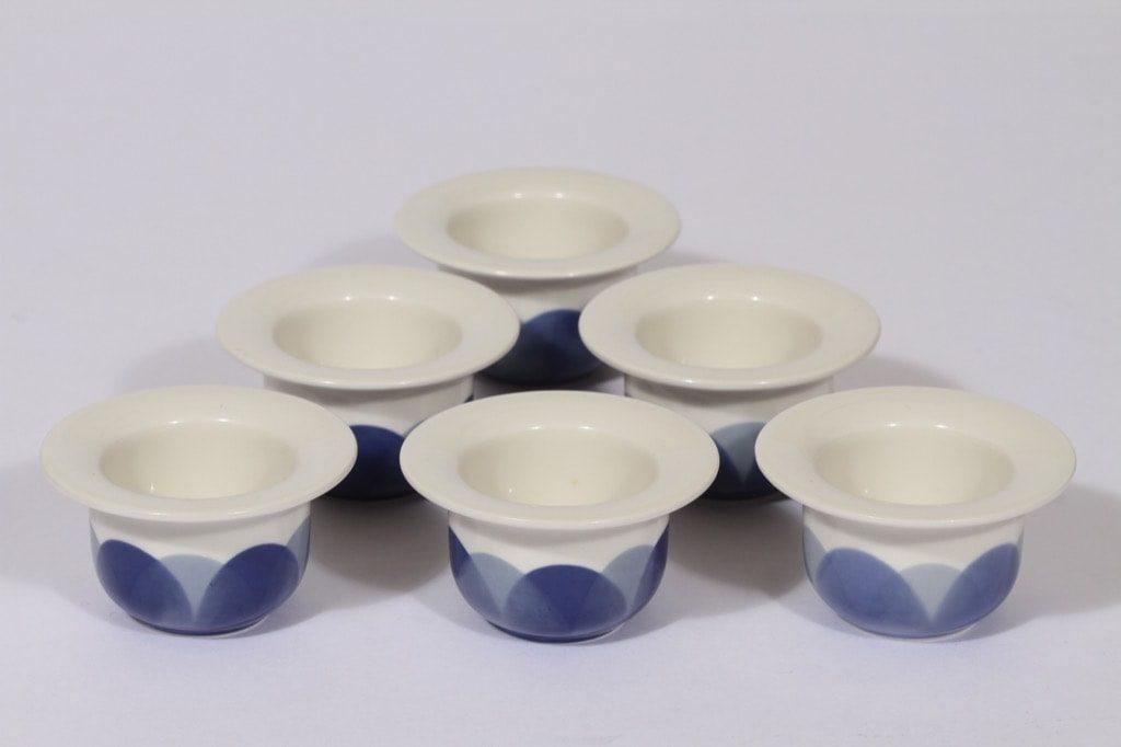 Arabia Arctrica Pudas munakupit, sininen, 6 kpl, suunnittelija Inkeri Leivo, serikuva