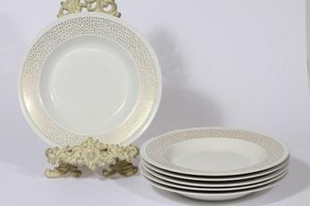 Arabia Kimmel lautaset, syvä, 6 kpl, suunnittelija Esteri Tomula, syvä, serikuva, syvä