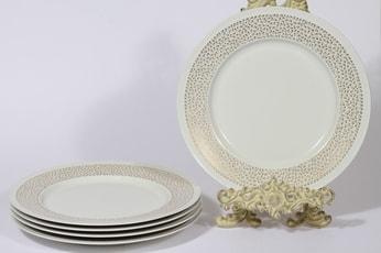 Arabia Kimmel lautaset, matala, 5 kpl, suunnittelija Esteri Tomula, matala, serikuva, matala